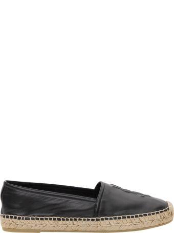 Saint Laurent Monogram Leather Espadrilles