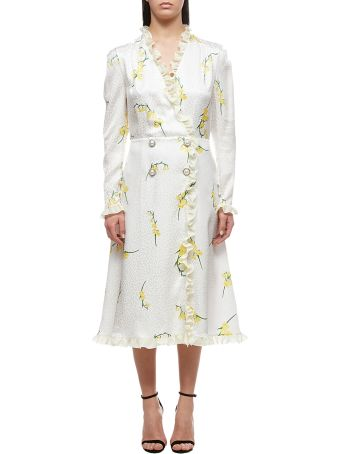 Alessandra Rich Floral Print Dress