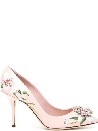 Dolce & Gabbana Bellucci Pumps With Lily Print