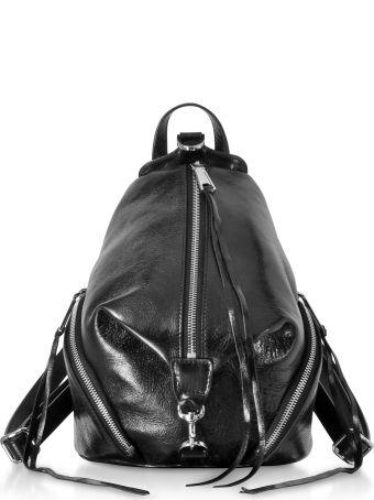 Rebecca Minkoff Black Quilted Nappa Leather Medium Julian Backpack