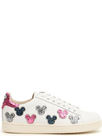 M.O.A. master of arts Leather And Glitter Disney Sneakers