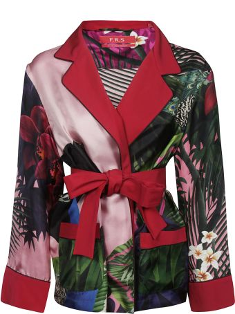 For Restless Sleepers F.r.s. Printed Detail Belted Jacket