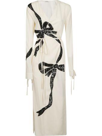 ATTICO Printed Wrap Dress