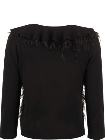 Alberta Ferretti Ostrich Feathers Sweater