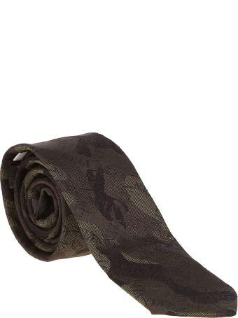Valentino Garavani Camo Print Logo Neck Tie