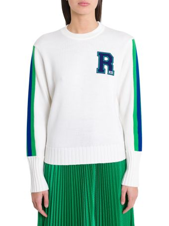 RED Valentino Sweater With Patch And Contrasting Bands