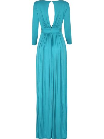 Elisabetta Franchi Celyn B. Long Dress With Embroideries