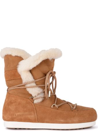 Moon Boot Far Side Honey Shearling Boots