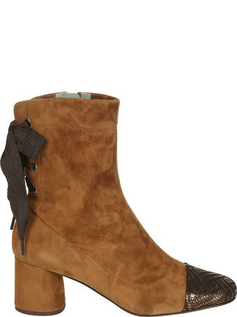 Paola D'Arcano Side Zip Ankle Boots