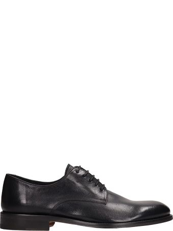 J. Wilton Black Leather Lace Up