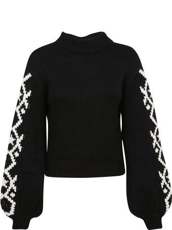 Alanui Geometric Star Intarsia Sweater