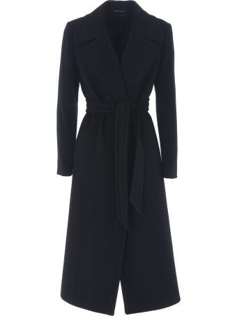 Tagliatore Single Breasted Belted Coat