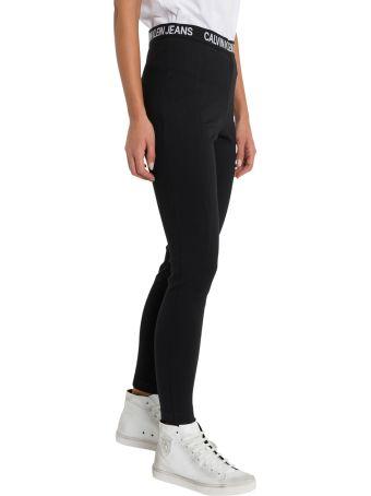 Calvin Klein Jeans Leggins With Logo Waistband