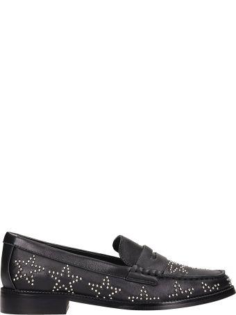 Bibi Lou Black Leather Loafers