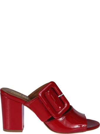 Paris Texas Buckled Mules