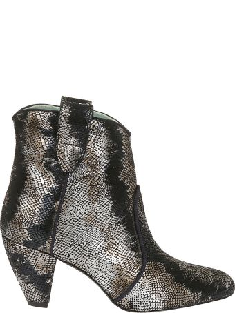 Paola D'Arcano Sequin Ankle Boots
