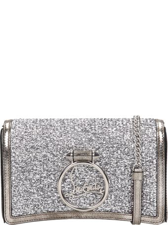 Christian Louboutin Silver Glitter Leather Rubylou Bag