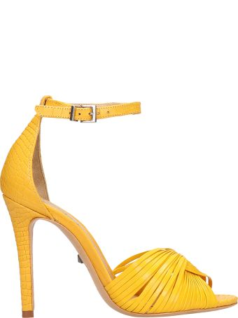 Schutz Yellow Calf Leather Sandals