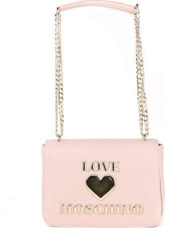 Love Moschino Pink Shoulder Bag In Pvc