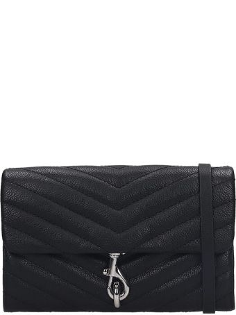 Rebecca Minkoff Eddie  Clutch In Black Leather