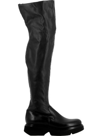 Elena Iachi Black Leather Boots