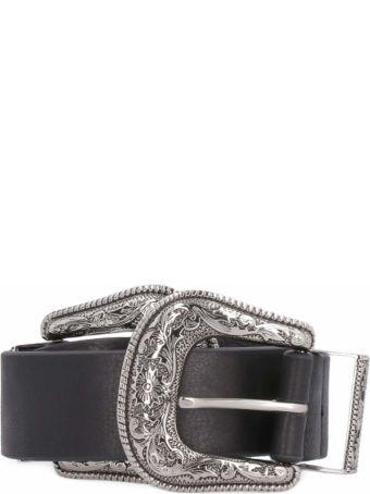 B-Low the Belt Bri Bri Leather Double Buckle Belt