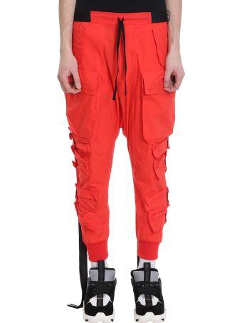 Ben Taverniti Unravel Project Red Cotton Cargo Pants