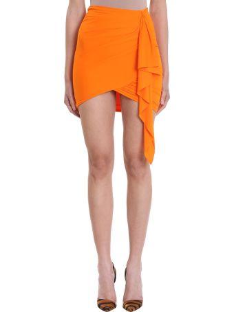 Alexandre Vauthier Tangerie Viscose Skirt