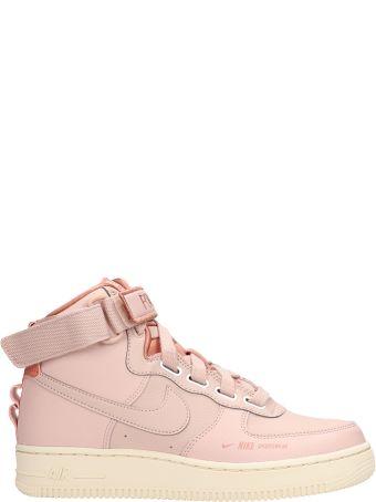 Nike Pink Leather Af 1 Hi Ut Sneakers