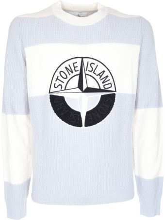 Stone Island Graphic Embroidered Logo Sweater