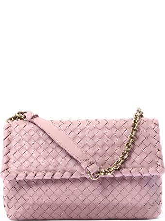 Bottega Veneta Pink Woven Olimpia Bag