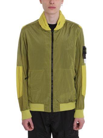Stone Island Green Polyamide Jacket