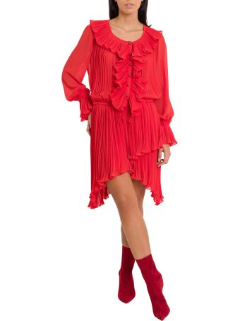 Philosophy di Lorenzo Serafini Pleated Dress With Rouches