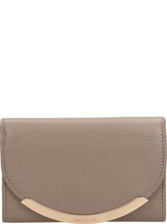 See by Chloé Taupe Leather Wallet