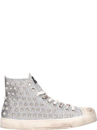 Gienchi Silver Glitter Jean Michel Sneakers