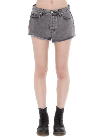 HERON PRESTON Raw Edge Denim Shorts