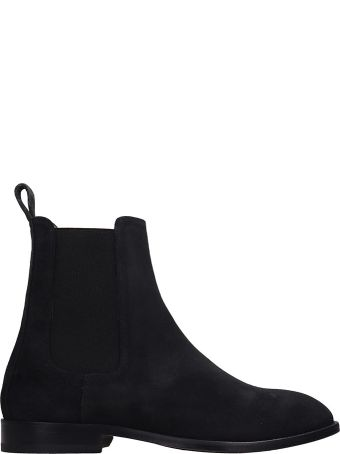 REPRESENT Black Suede Chelsea Ankle Boots