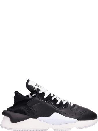 Y-3 Kaiwa Black Leather Sneakers