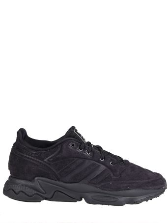 Craig Green Black Leather And Canvas Sneakers