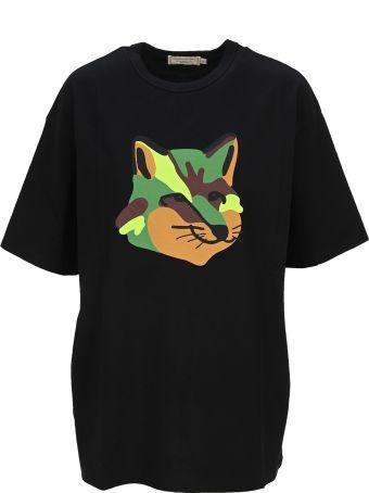 Maison Kitsuné Maison Kitsune Fox Head T-shirt