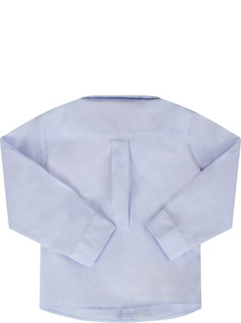 Fendi Light Blue Shirt For Baby Boy With Double Ff