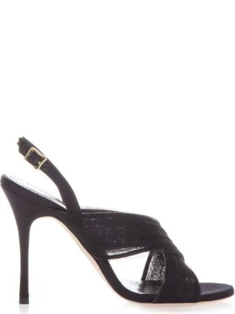 Manolo Blahnik Leather Black Sandals