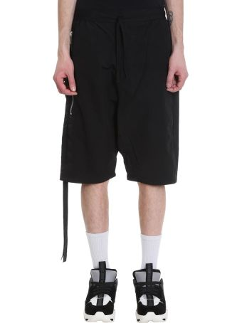Ben Taverniti Unravel Project Black Cotton Shorts