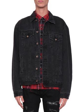 Overcome Bleached Cotton Denim Jacket