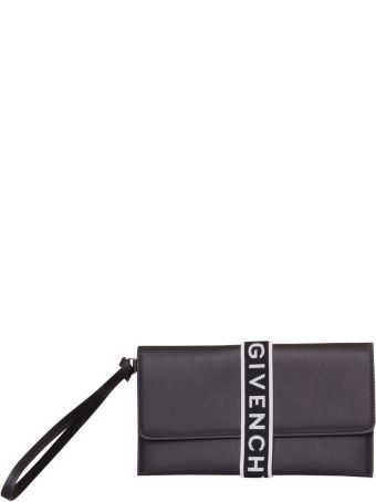 Givenchy 4g Clutch Bag In Leather In Black