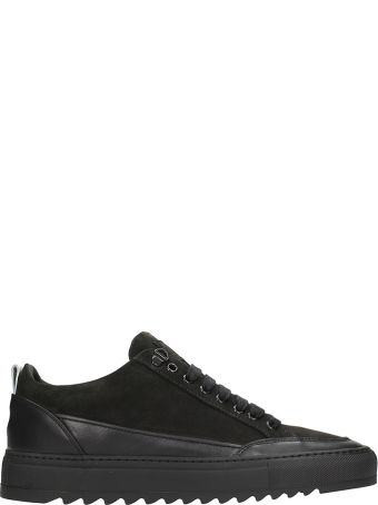Mason Garments Tie Black Suede And Leather Sneakers
