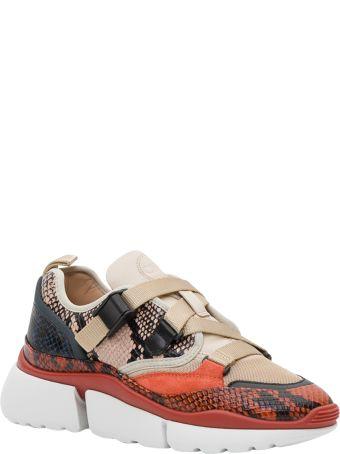 Chloé Rony Python Print Sneaker