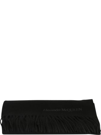 Alexander McQueen Embroidered Cashmere Scarf