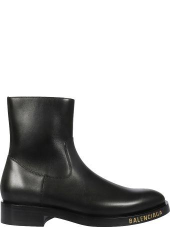 Balenciaga Logo Ankle Boots