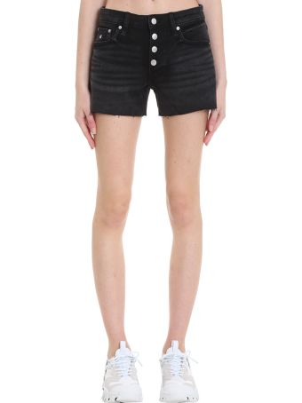 Calvin Klein Jeans Shorts In Black Denim